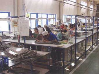 The sewing plant in Wuhan Fuboha Auto Parts Co.,Ltd.